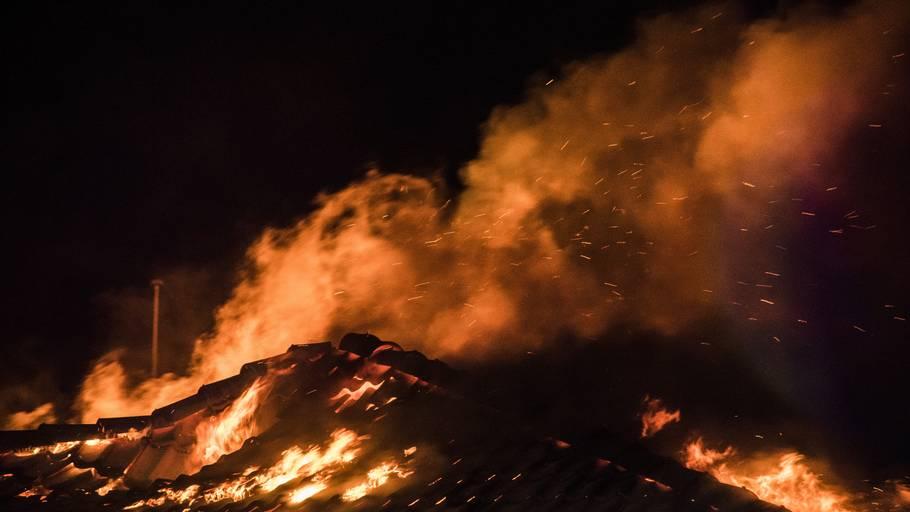 Der var ingen personer til stede, da Borbjerg Mølle Kro & Hotel i Holstebro brændte ned natten til mandag. (Arkivfoto) Foto: Ida Marie Odgaard/Ritzau Scanpix