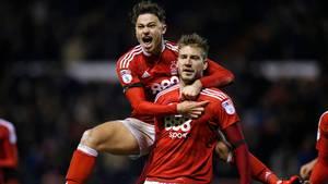 Bendtner frygtede det værste under sin skade, men nu scorer han igen. Foto: TV3 Sport